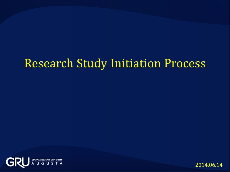 Research Study Initiation Process 2014.06.14