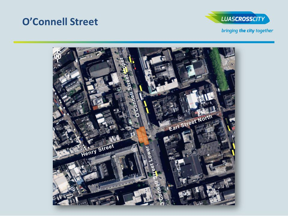 Progression of workfronts Utility Works br Parnell Sq.