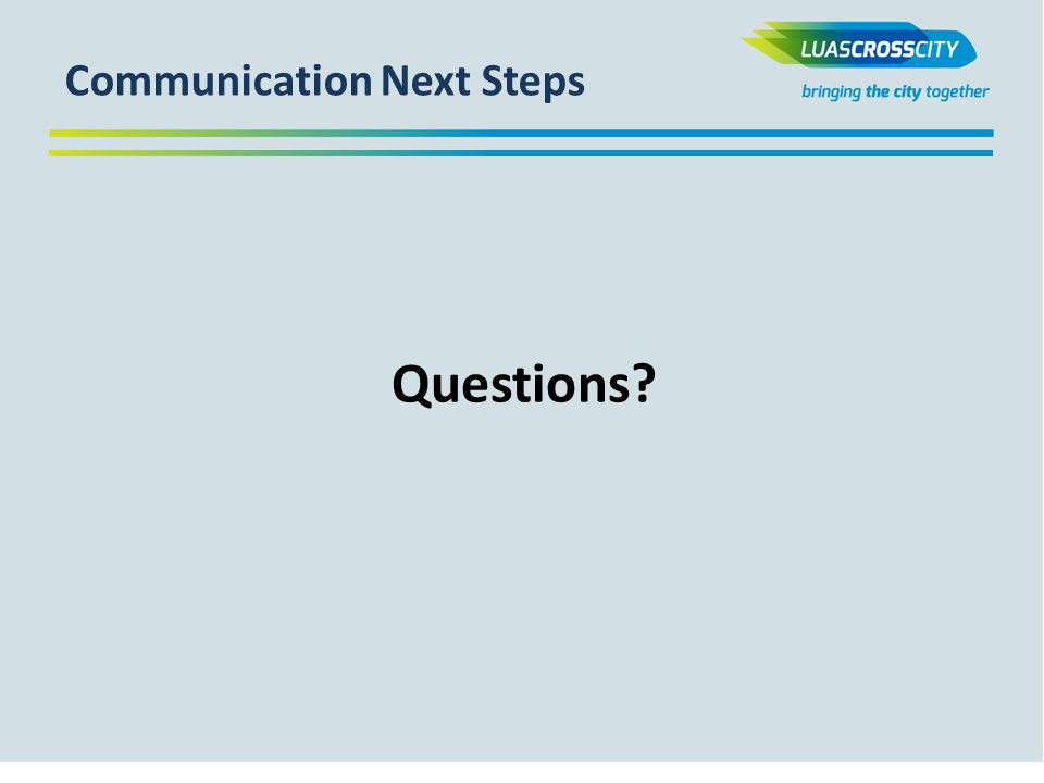 Communication Next Steps Questions