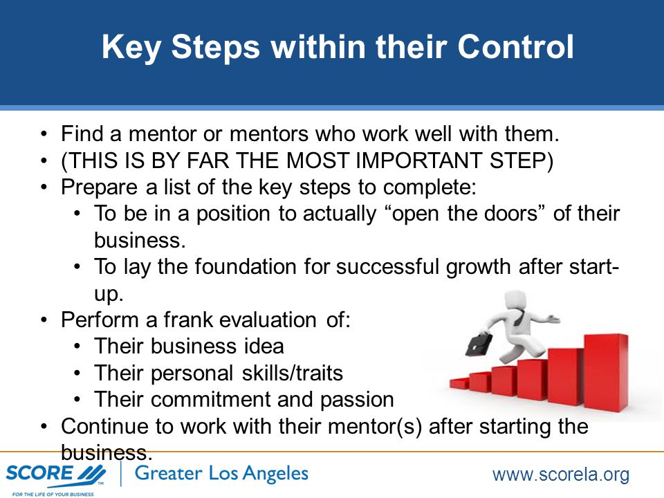 www.scorela.org Find a mentor or mentors who work well with them.