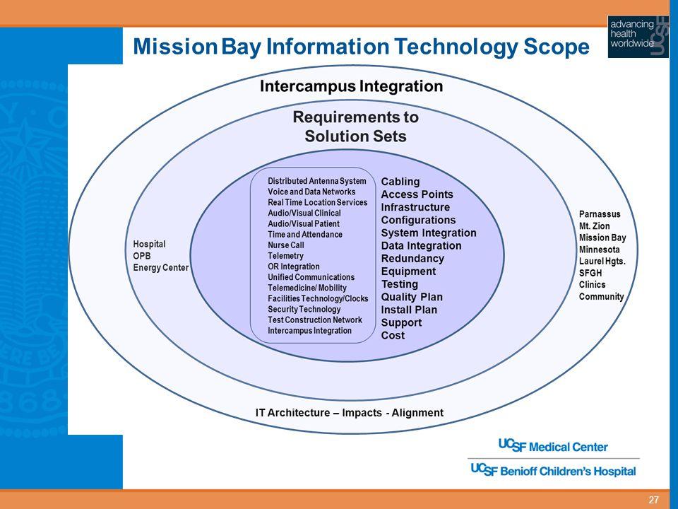 Mission Bay Information Technology Scope 27