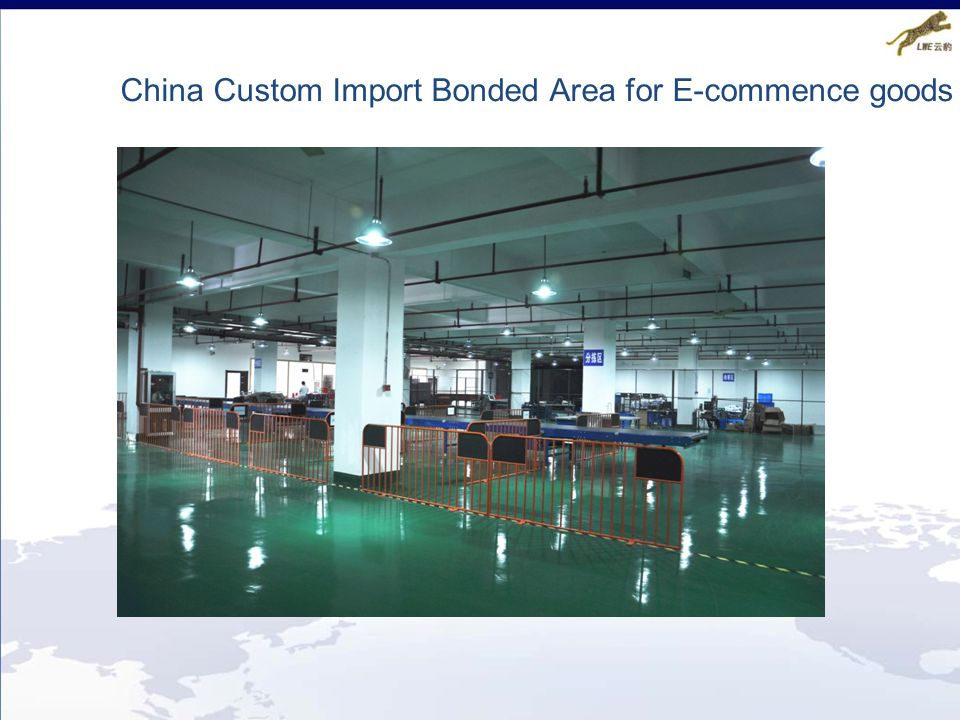 China Custom Import Bonded Area for E-commence goods