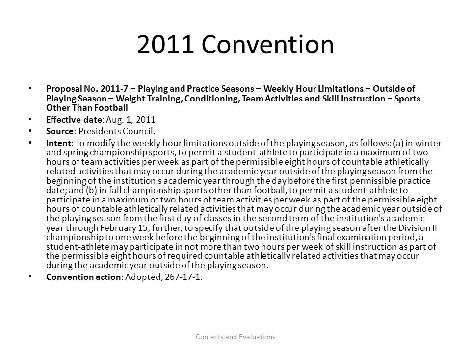 2011 C0nvention Proposal No.