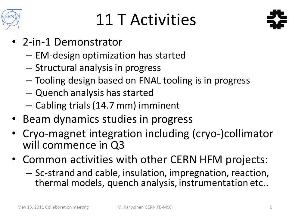 May 13, 2011 Collaboration meetingM.