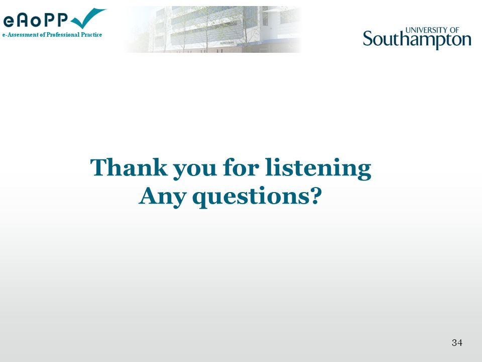Thank you for listening Any questions 34