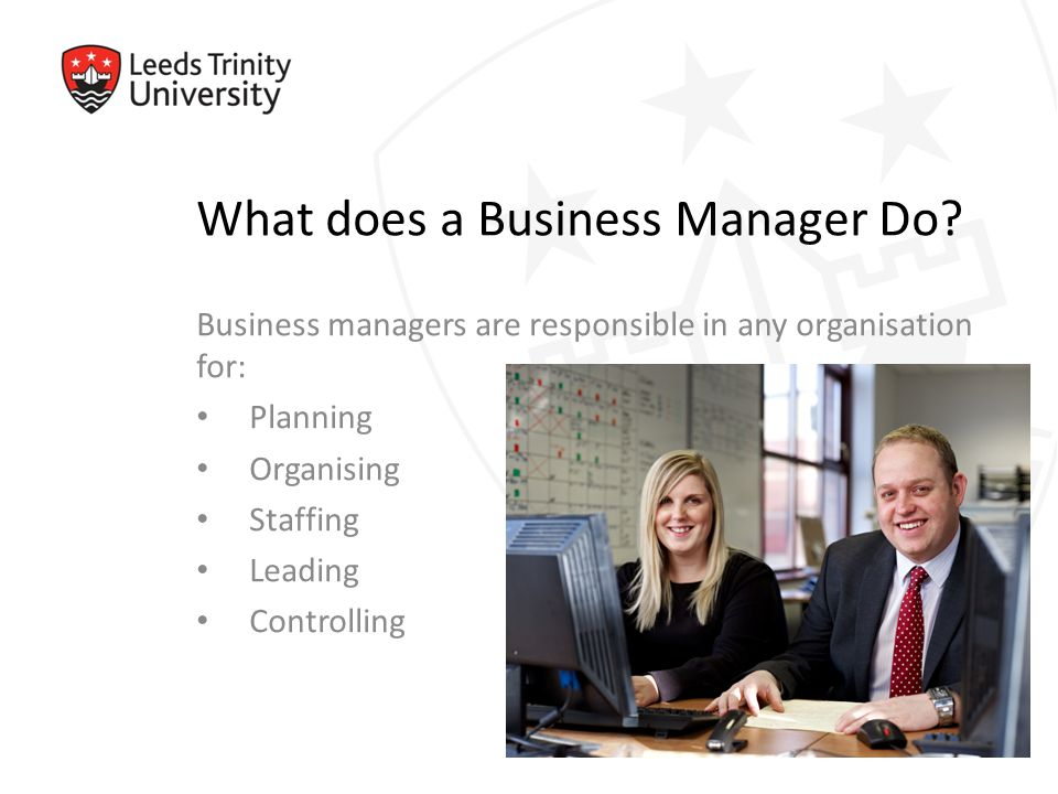 What does a Business Manager Do.