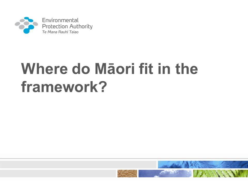Where do Māori fit in the framework