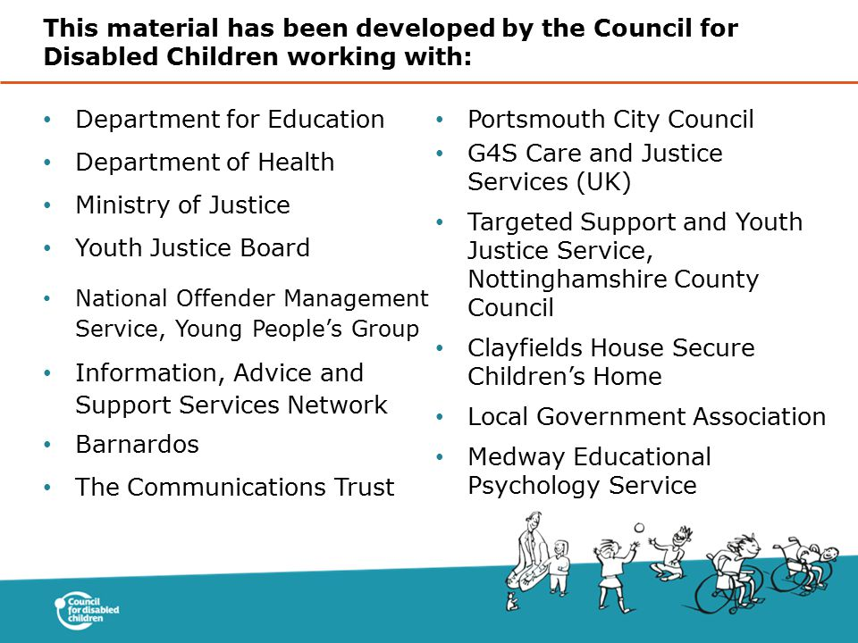 Department for Education Department of Health Ministry of Justice Youth Justice Board National Offender Management Service, Young People's Group Infor