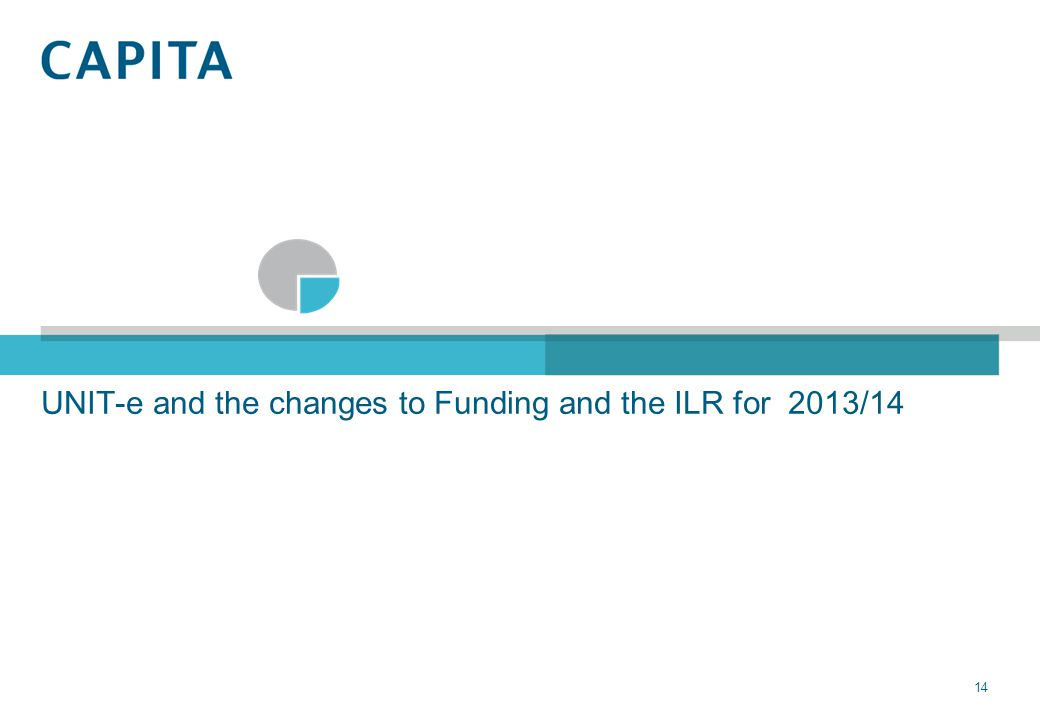 UNIT-e and the changes to Funding and the ILR for 2013/14 14