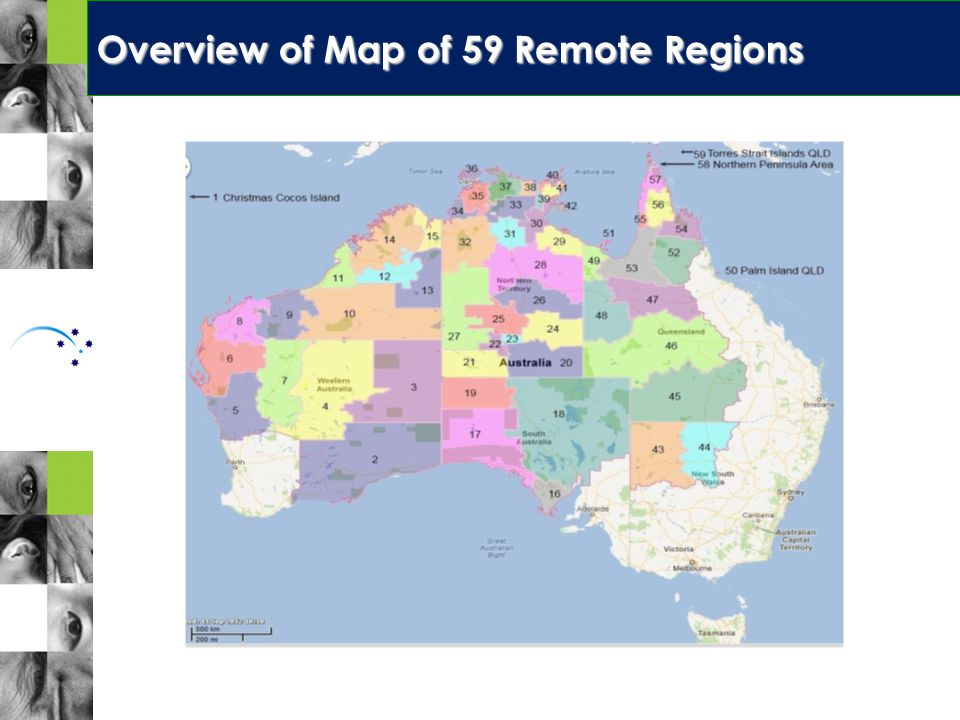 OVERVIEW MAP OF 59 REMOTE REGIONS Overview of Map of 59 Remote Regions