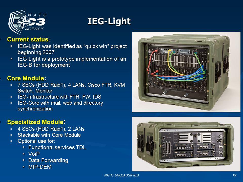 "19 IEG-Light IEG-Light  Current status :  IEG-Light was identified as ""quick win"" project beginning 2007  IEG-Light is a prototype implementation o"