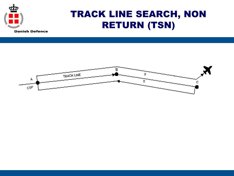 TRACK LINE SEARCH, NON RETURN (TSN)