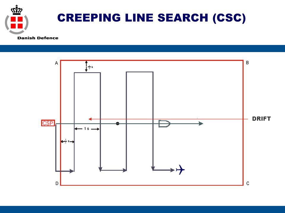 CREEPING LINE SEARCH (CSC) DRIFT