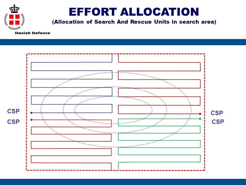 EFFORT ALLOCATION (Allocation of Search And Rescue Units in search area) CSP