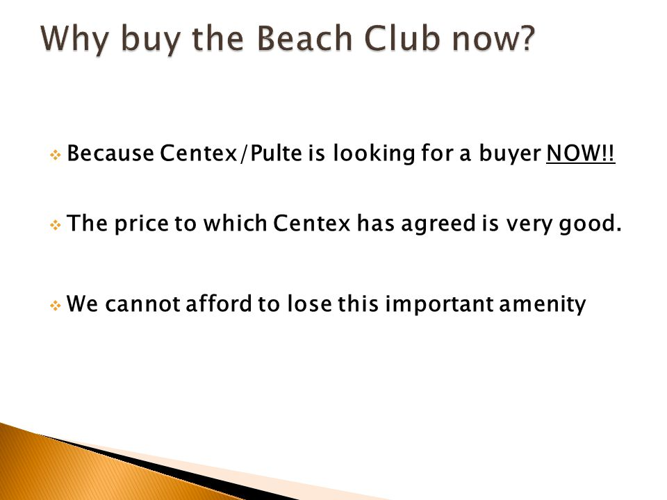  Because Centex/Pulte is looking for a buyer NOW!.
