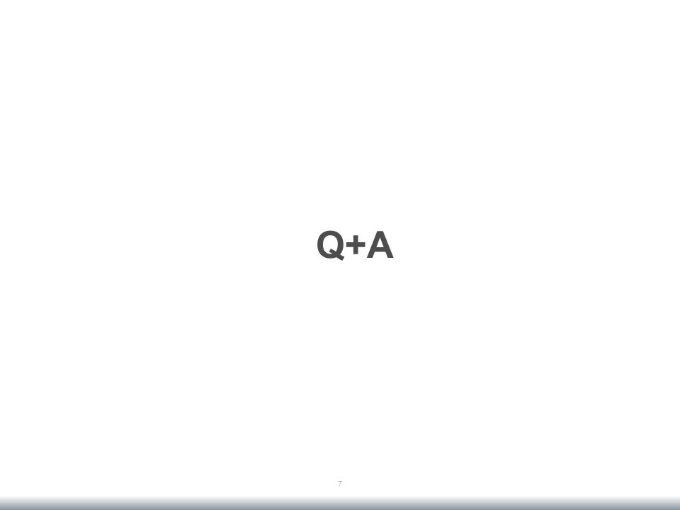 Q+A 7
