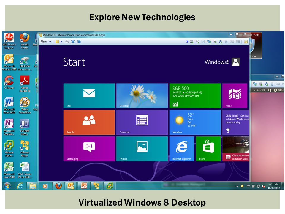 Virtualized Windows 8 Desktop Explore New Technologies