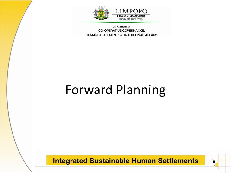 Forward Planning 23