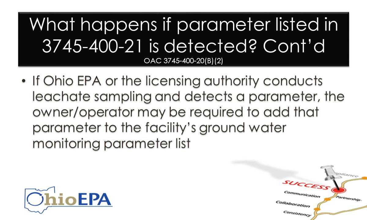 What happens if parameter listed in 3745-400-21 is detected.