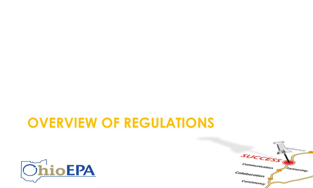 OVERVIEW OF REGULATIONS