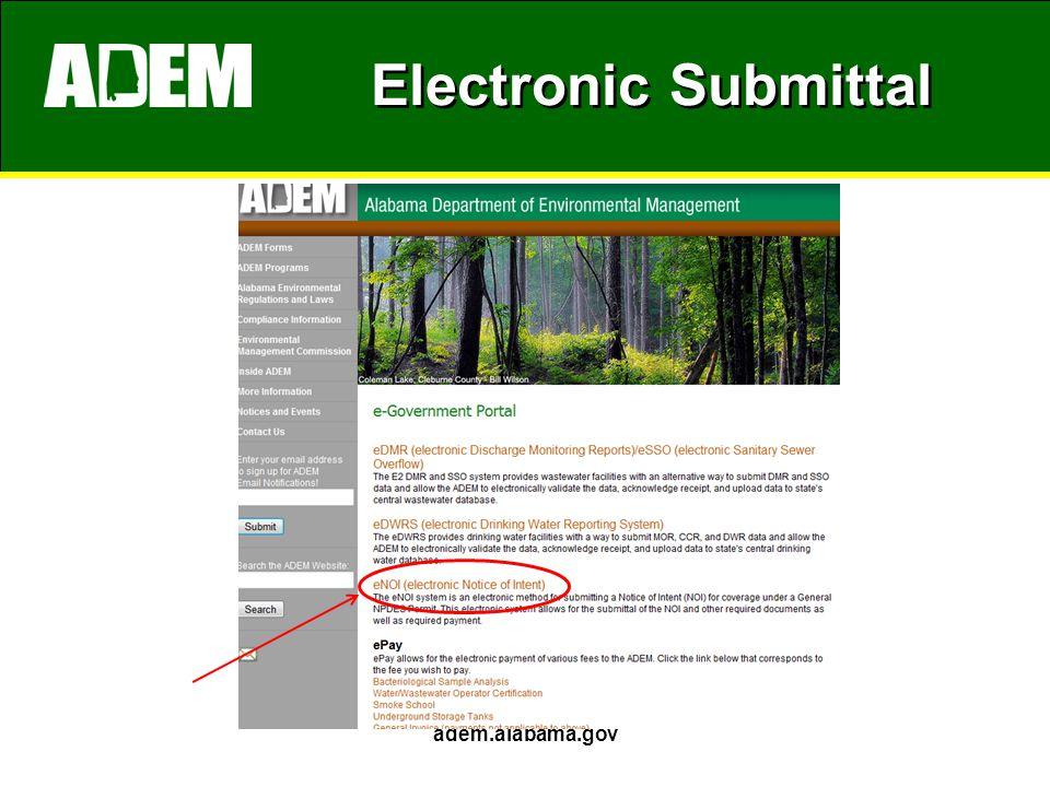 Electronic Submittal adem.alabama.gov