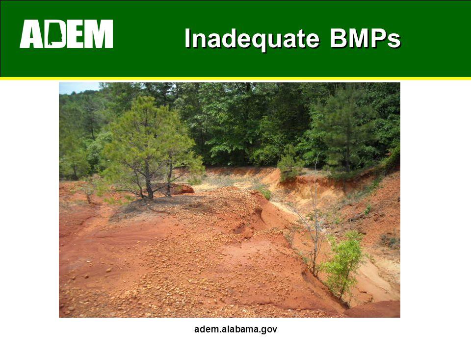 Inadequate BMPs adem.alabama.gov