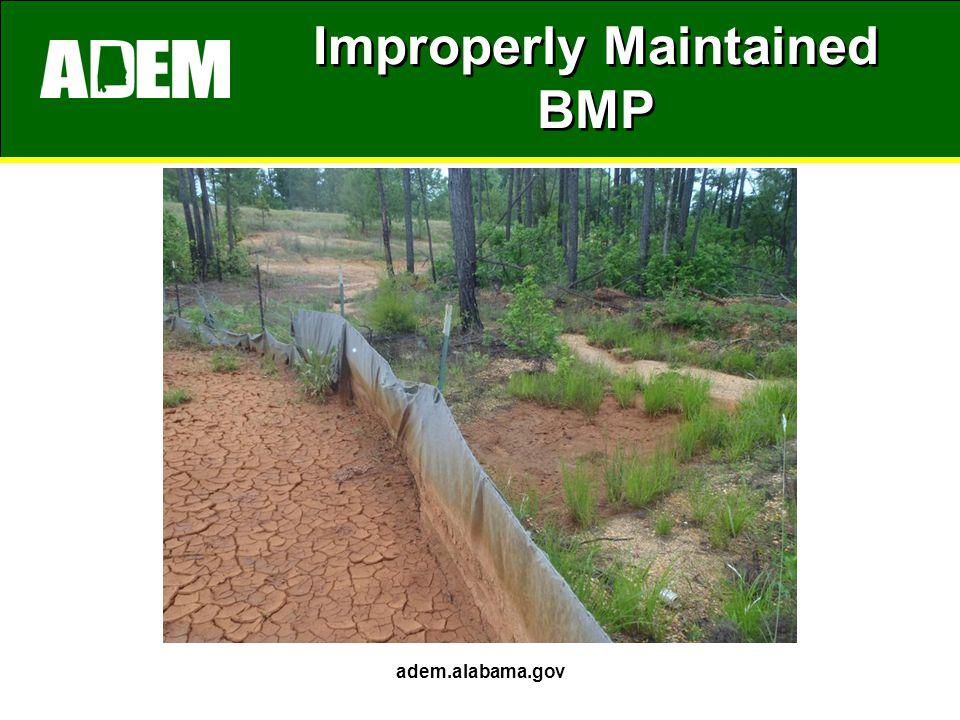 Improperly Maintained BMP adem.alabama.gov