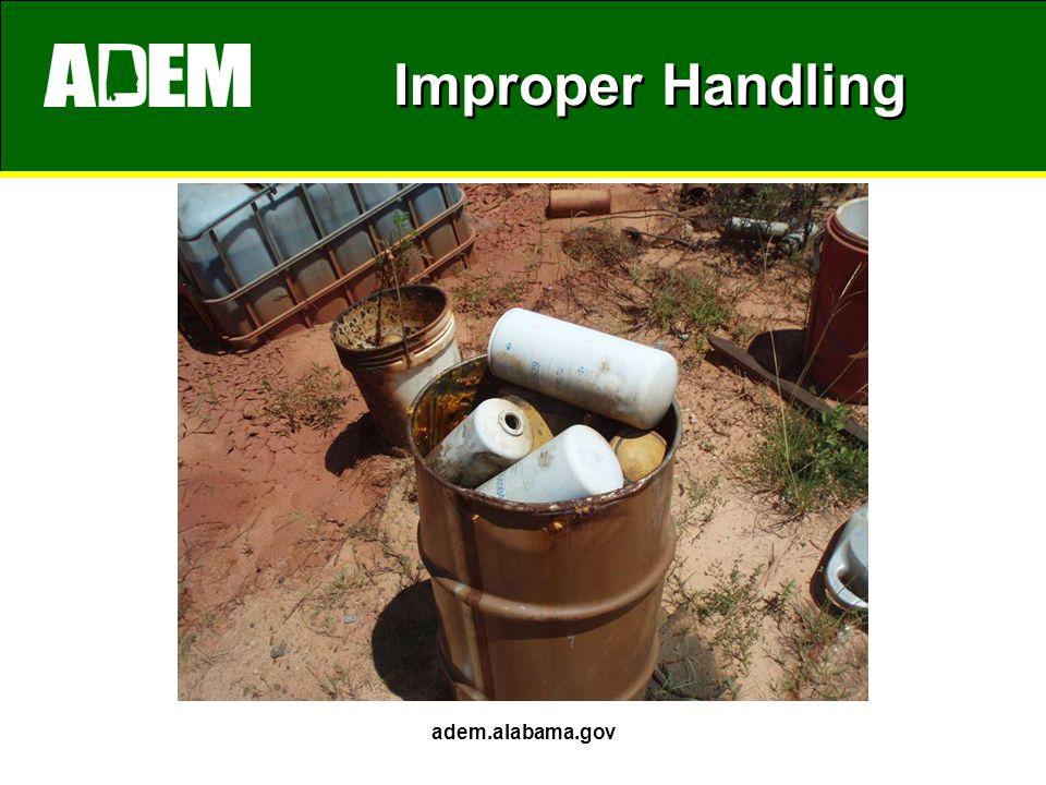 Improper Handling adem.alabama.gov