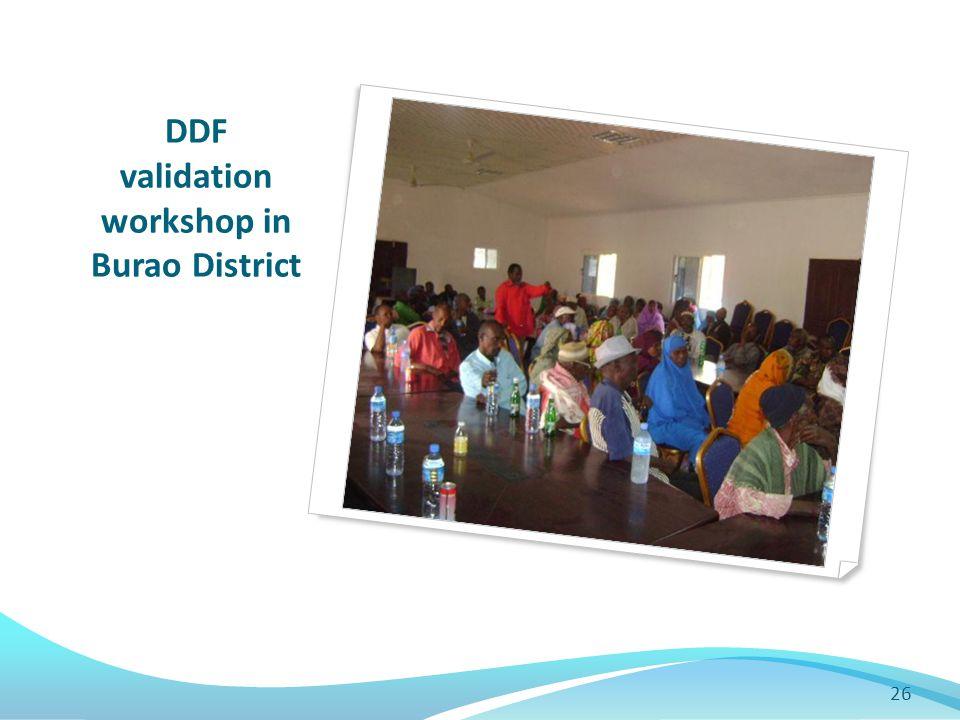DDF validation workshop in Burao District 26