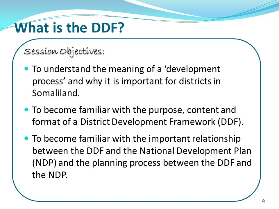 What is the DDF 9