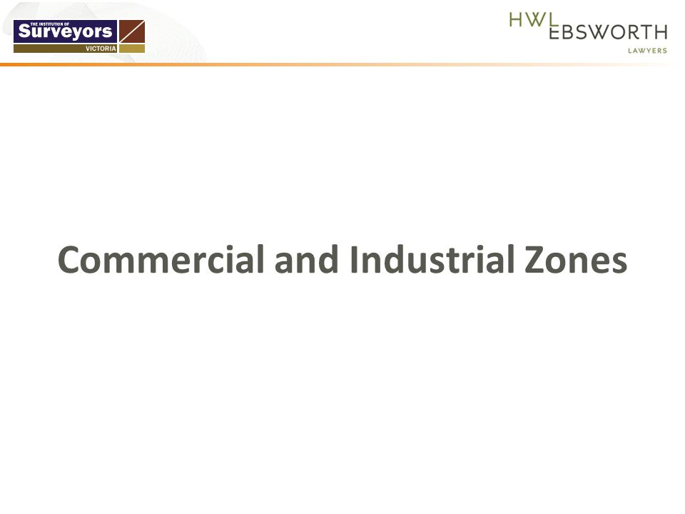 Commercial and Industrial Zones