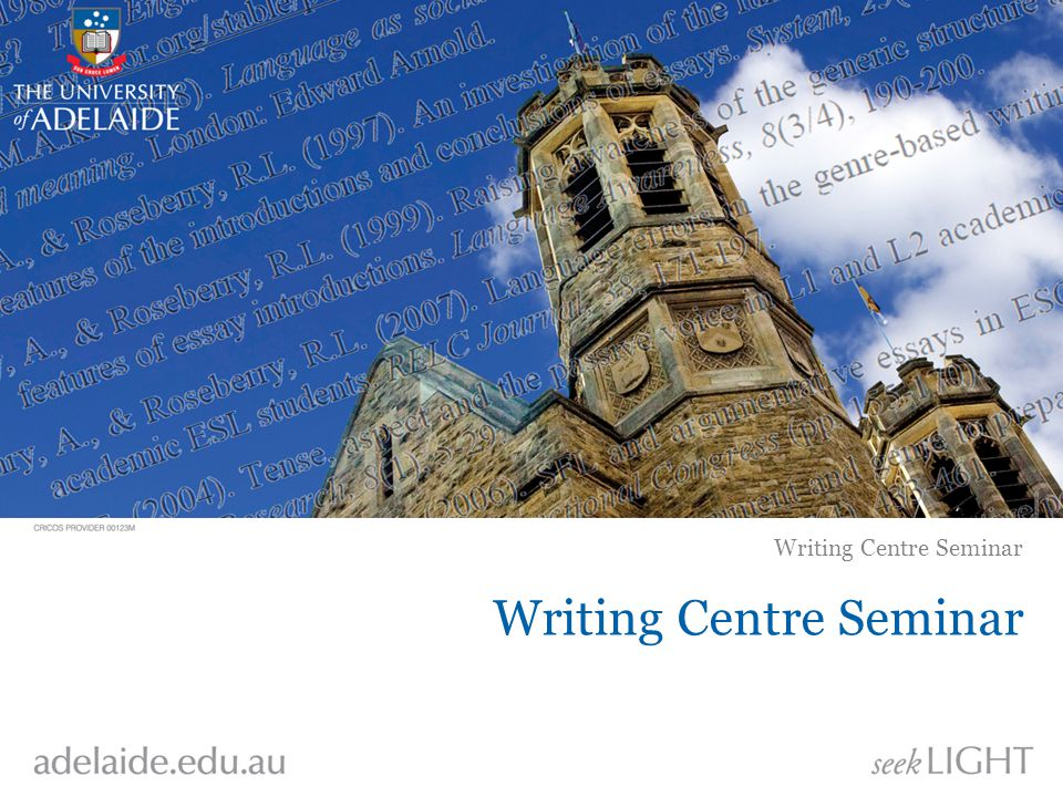 Writing Centre Seminar