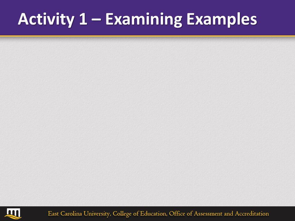 Activity 1 – Examining Examples