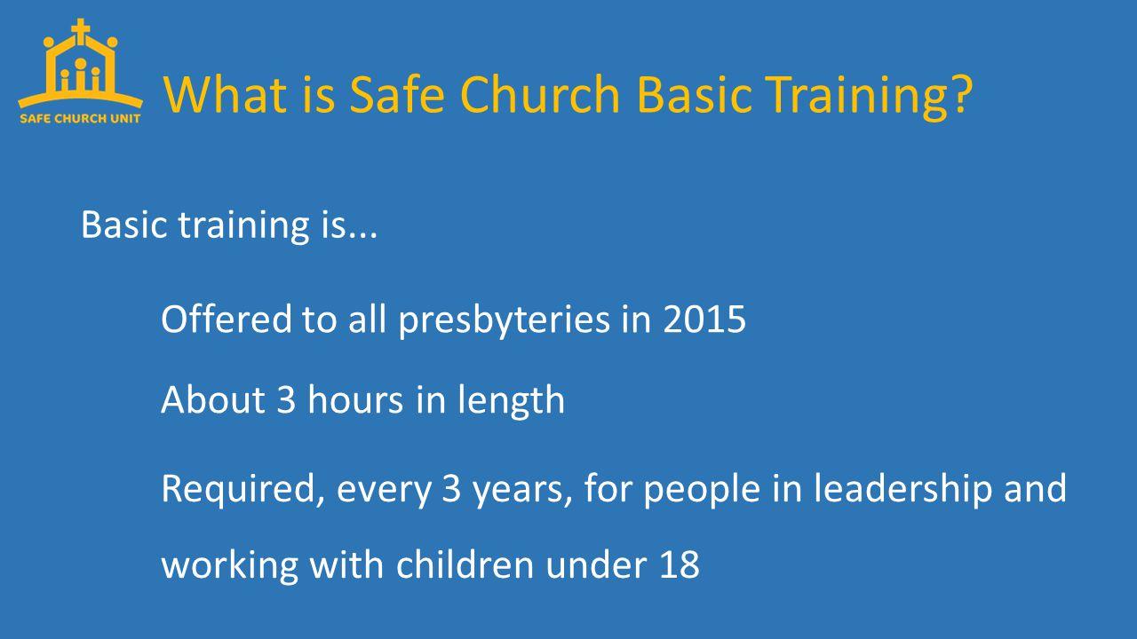 Basic training is...
