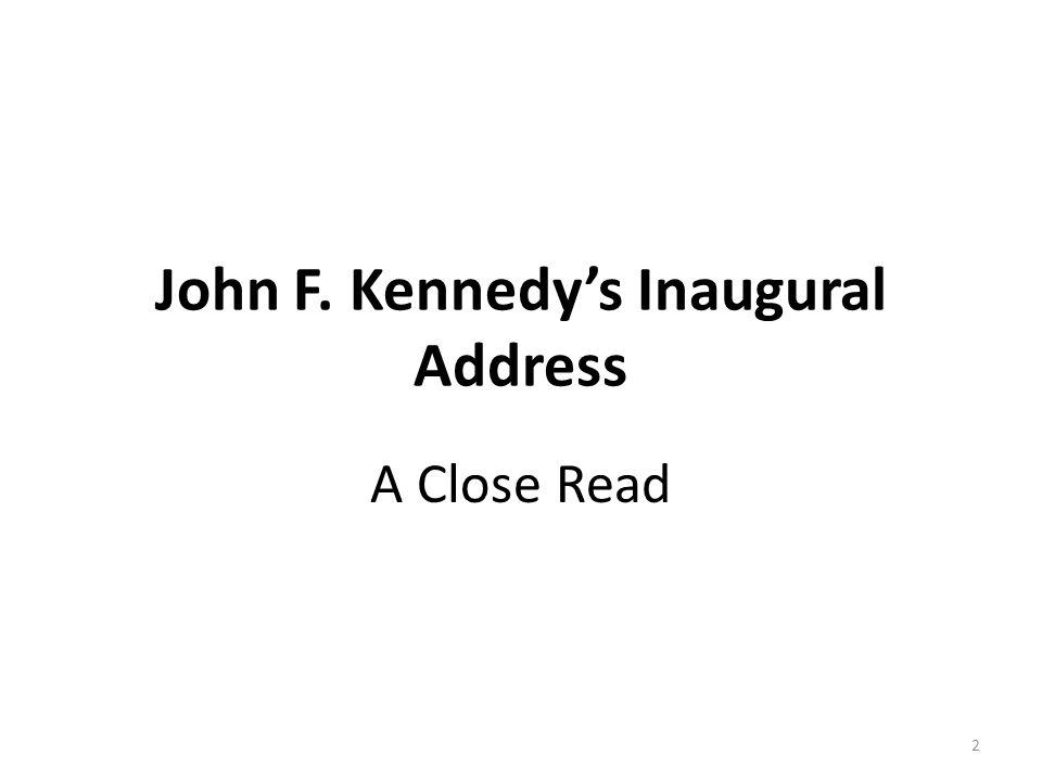 John F. Kennedy's Inaugural Address A Close Read 2