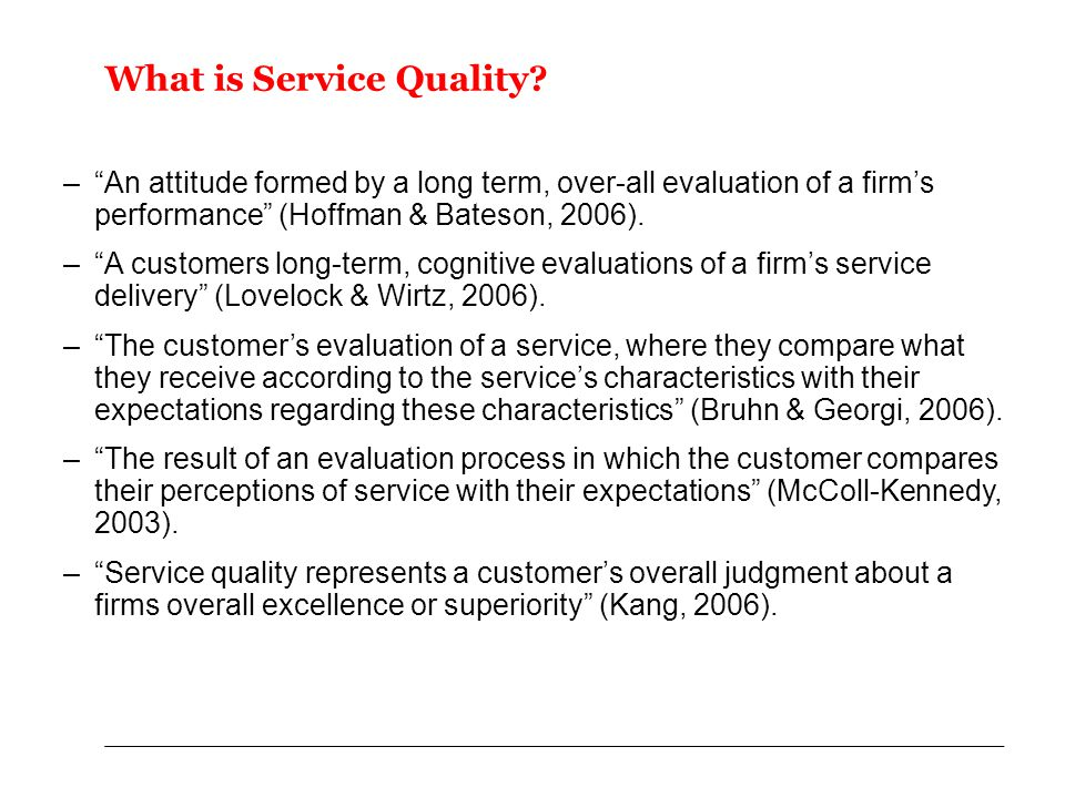 What is Service Quality.