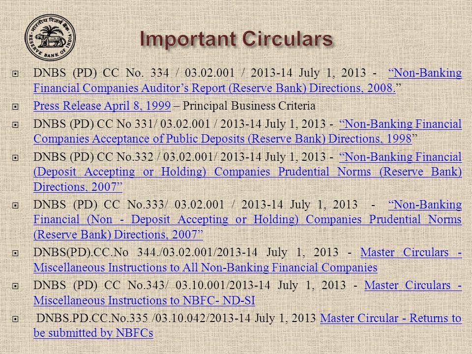  DNBS (PD) CC No.