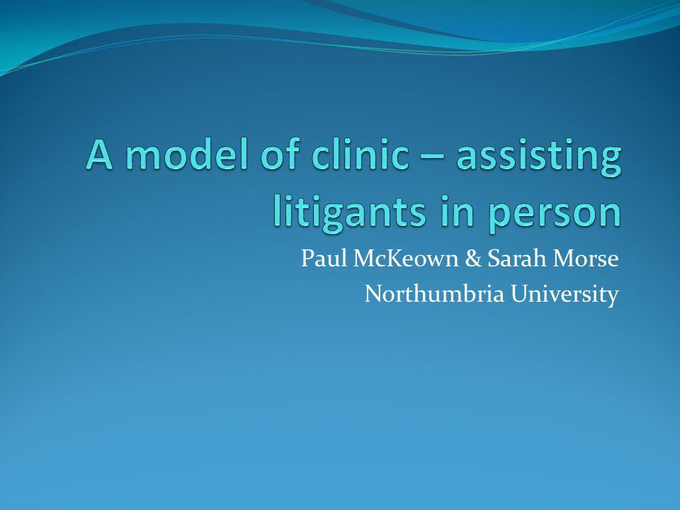 Paul McKeown & Sarah Morse Northumbria University