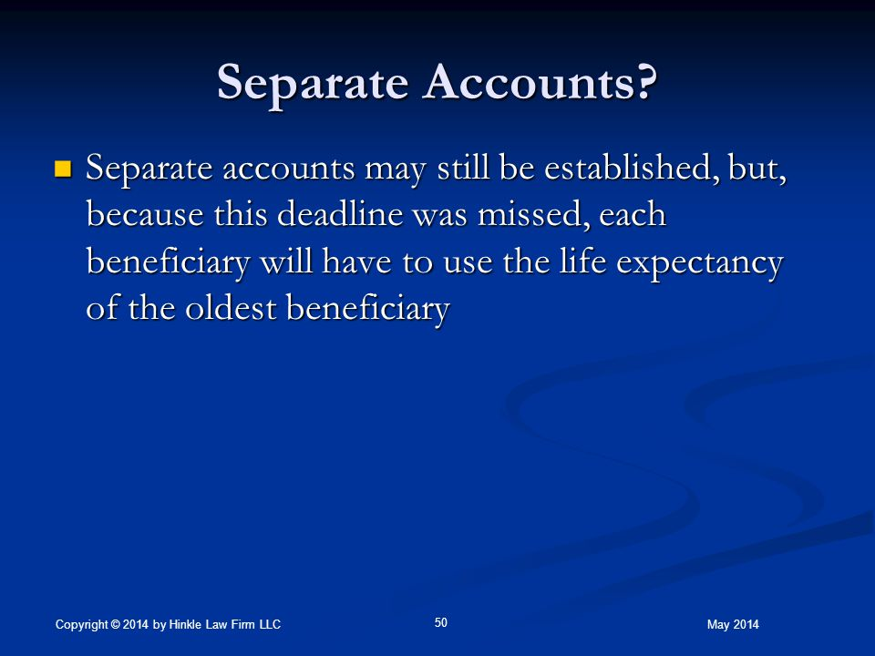 Separate Accounts.