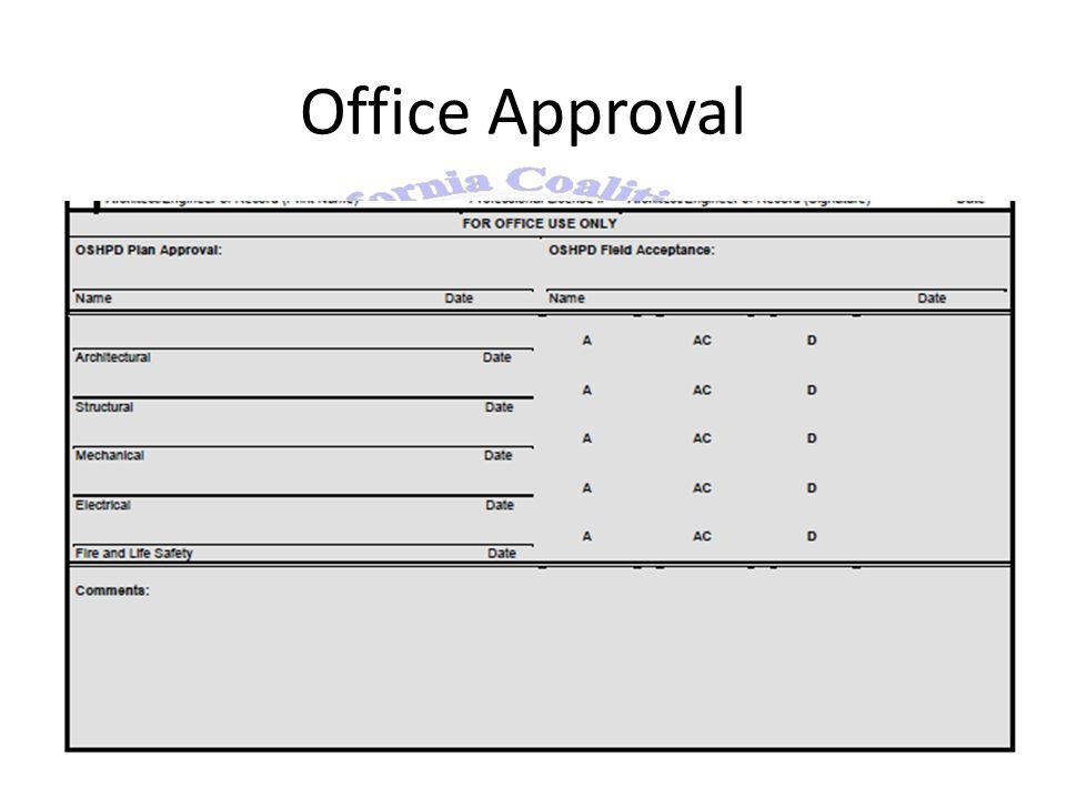 Office Approval