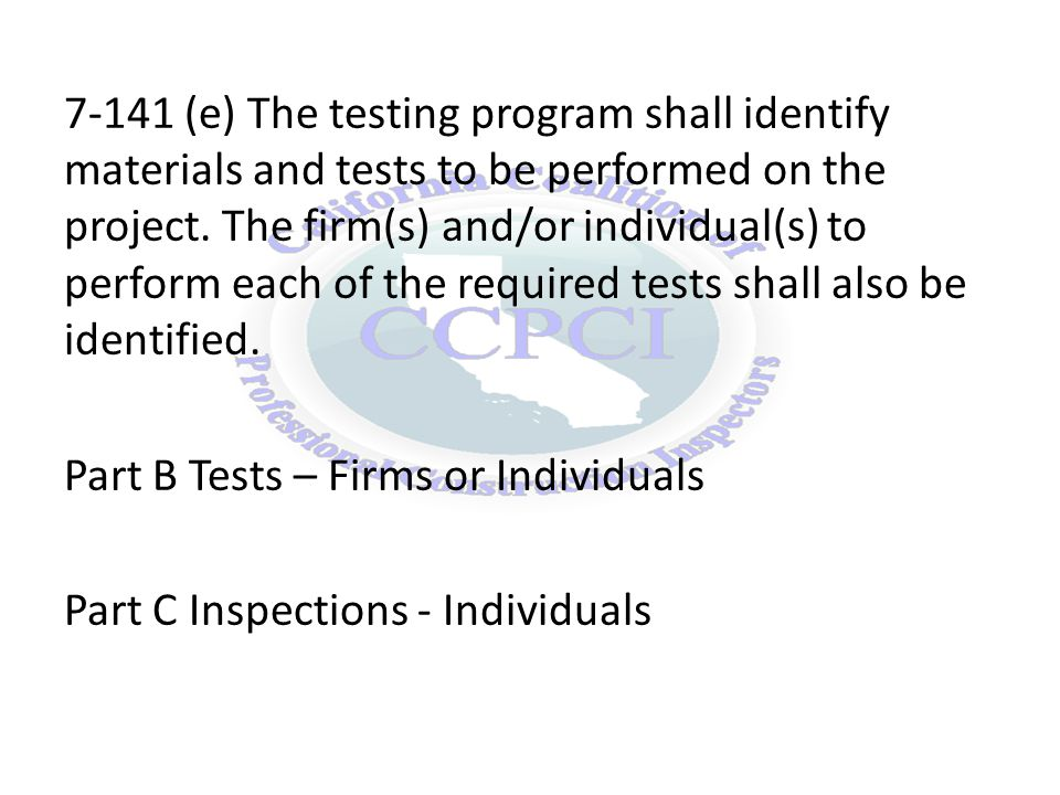 7-149 (b) The governing board or authority of a health facility shall select a qualified person or testing laboratory as the testing agency to conduct the tests.