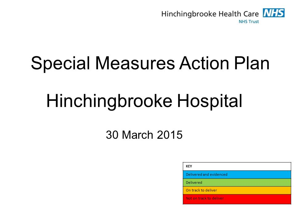 Hinchingbrooke Hospital – Our Improvement Plan & our progress What we are doing.