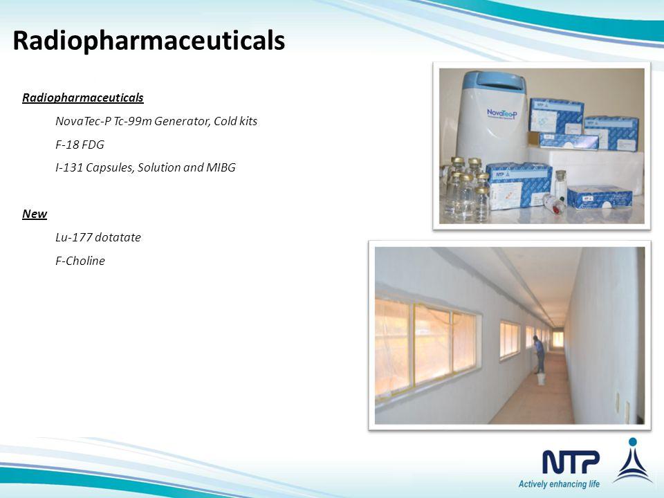 Radiopharmaceuticals NovaTec-P Tc-99m Generator, Cold kits F-18 FDG I-131 Capsules, Solution and MIBG New Lu-177 dotatate F-Choline Nuclear Medical Is