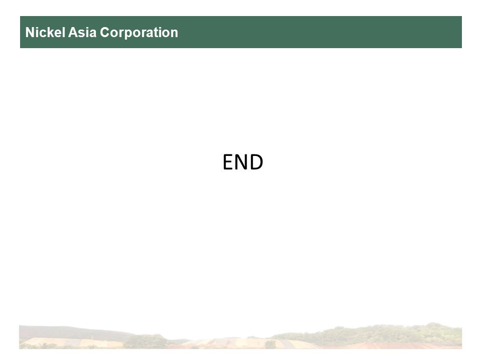 Nickel Asia Corporation END