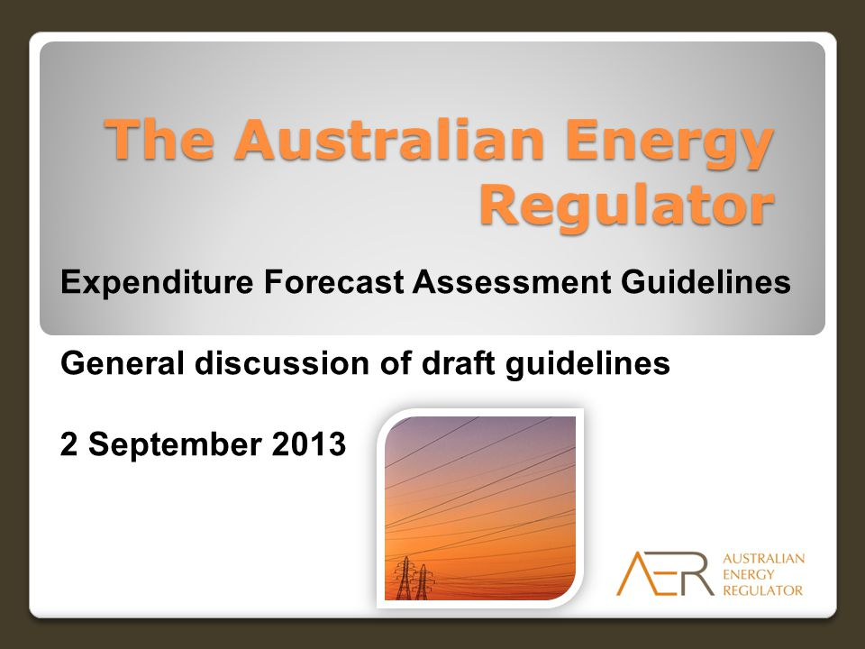 Consultation up to the release of the final guideline 2 DateSubject 2 SeptemberGeneral discussion of the draft guidelines Mid September Release of draft economic benchmarking RIN 20 September Submissions on explanatory statement and guideline due Late September Category analysis state by state workshops Bilateral meetings / workshop on economic benchmarking data requirements Mid OctoberSubmissions on draft economic benchmarking RIN due NovemberEconomic benchmarking RIN issued Final guideline and explanatory statement released Draft category analysis RIN released
