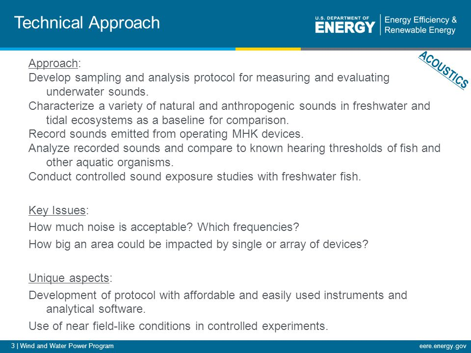24 | Wind and Water Power Programeere.energy.gov Next Steps FY12 Milestones Q1: Characterize sediment distribution at at least one MHK site.