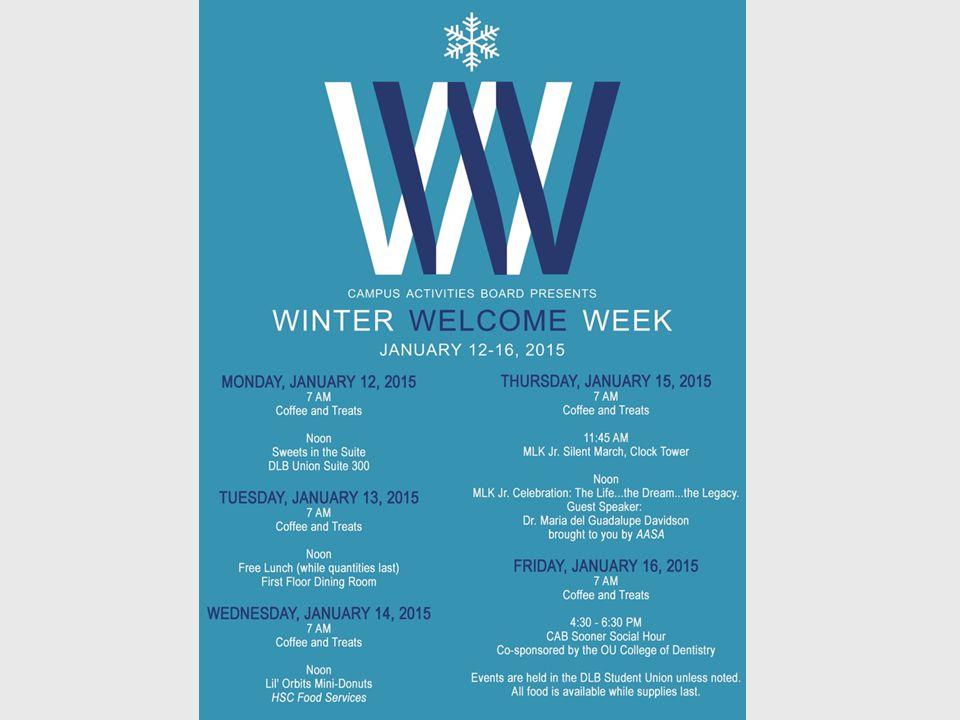 Winter Welcome Week
