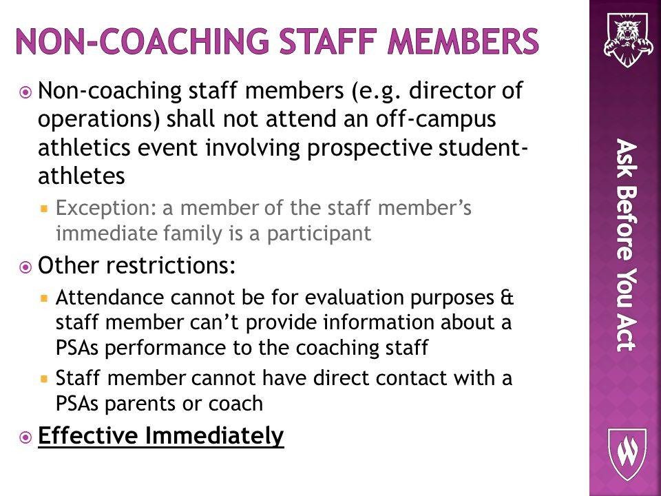  Non-coaching staff members (e.g.