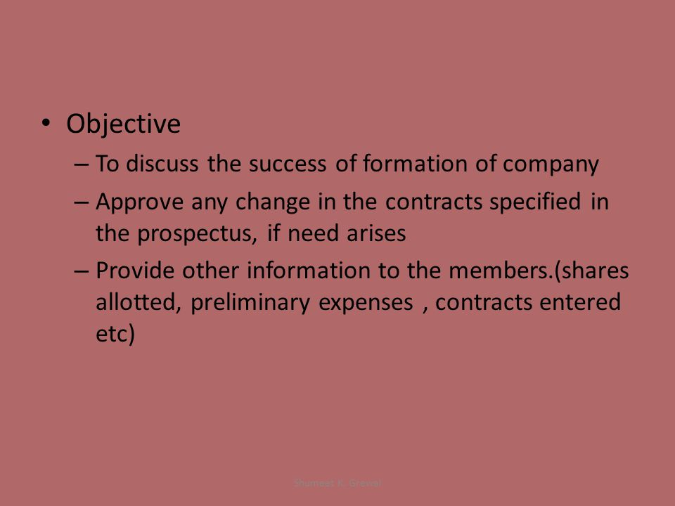 Notice – The notice of meeting along with statutory report must be given at least 21 clear days before meeting.
