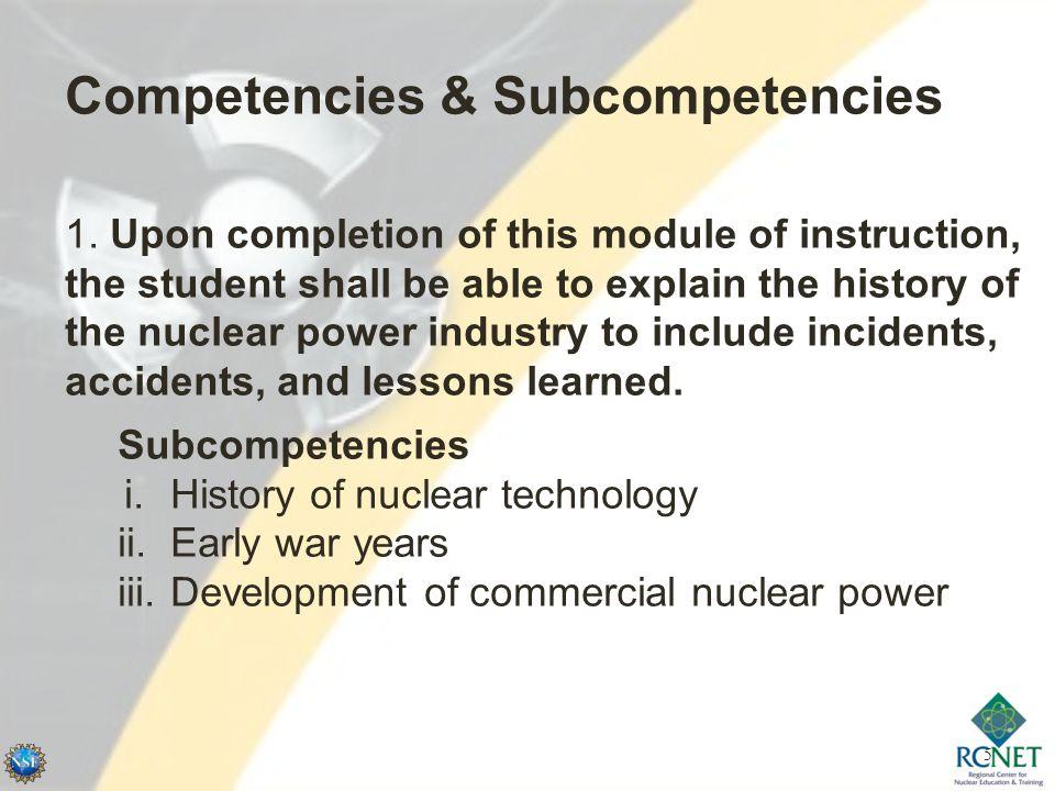 5 Competencies & Subcompetencies 1.